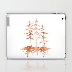 Three Sisters Trees Rose Gold on White Laptop & iPad Skin