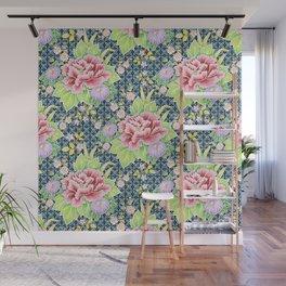 Kimono Bouquet Brocade Wall Mural