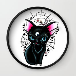 Bad Cat Wall Clock
