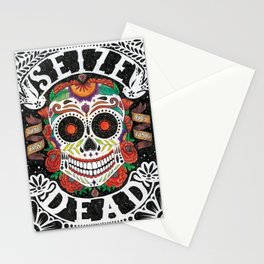 Seize the Day of the Dead Stationery Cards
