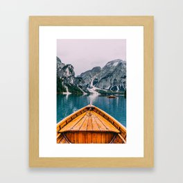 Canoe Mountains (Color) Framed Art Print