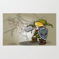 hyrule Area & Throw Rugs featuring Hero of Hyrule by joshWenrick