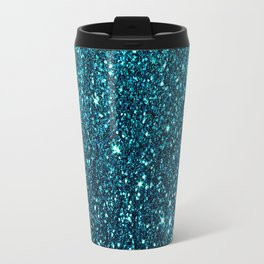 blue sparkle Travel Mug