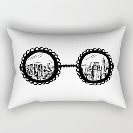 City Sunglasses Rectangular Pillow