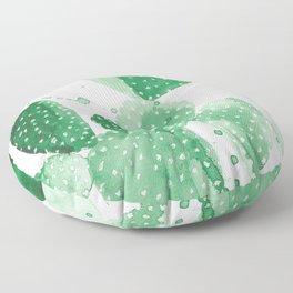 Green Paddle Cactus Floor Pillow