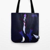 nightcrawler Tote Bags featuring Nightcrawler by rdjpwns