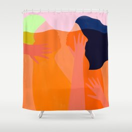 connected in love Shower Curtain