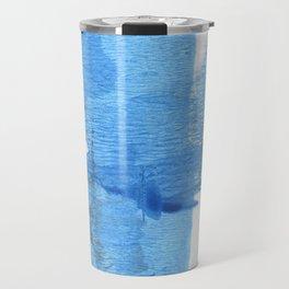 Corn flower blue hand-drawn wash drawing paper Travel Mug