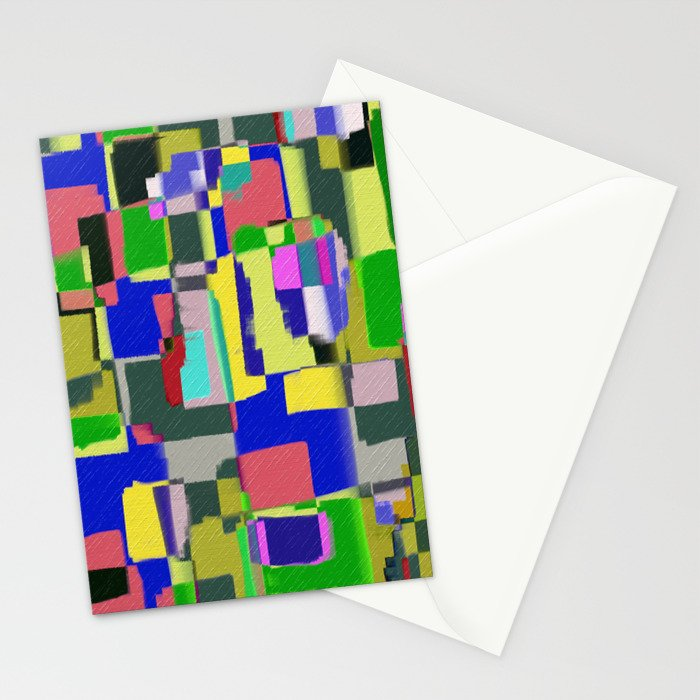 Raw Paint 3 - Colour Abstract Stationery Cards