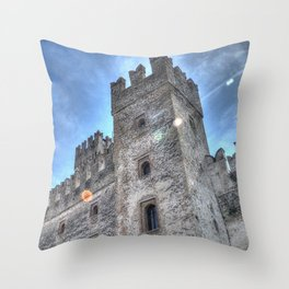 Sirmione castle Throw Pillow