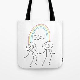 Runaway Rainbow Tote Bag