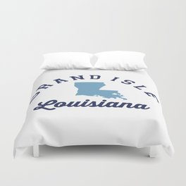 Grand Island - Louisiana. Duvet Cover