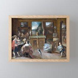 Frans Francken the Younger A visit to the Art Dealer Framed Mini Art Print