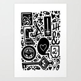 Beat and Love Art Print