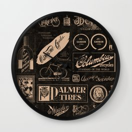 'Re. Cycling' - Vintage Logo Collage Wall Clock