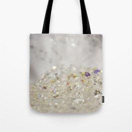 White Crystals Bokeh Tote Bag