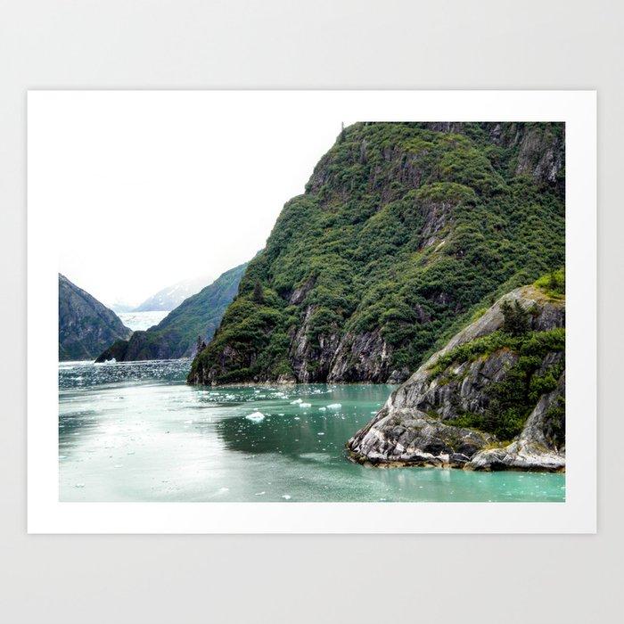 Views through a Fjord Art Print