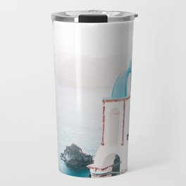 Santorini Greece Mamma Mia blue-white travel photography in hd. Travel Mug