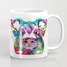 Colorful Pig Art - Squeal Appeal - By Sharon Cummings Coffee Mug