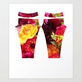 Flower Power Leggings Art Print