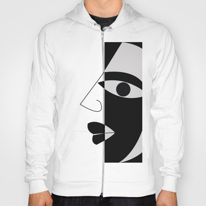 Black and white face Hoody