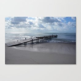 Pier in Aruba Canvas Print