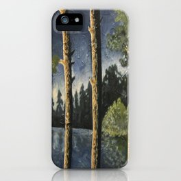 Lake Woodsman View iPhone Case
