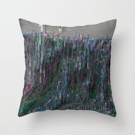 perfectly corrupted Throw Pillow
