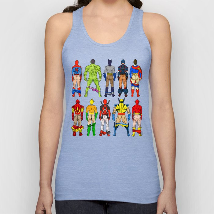 Superhero Butts Unisex Tanktop