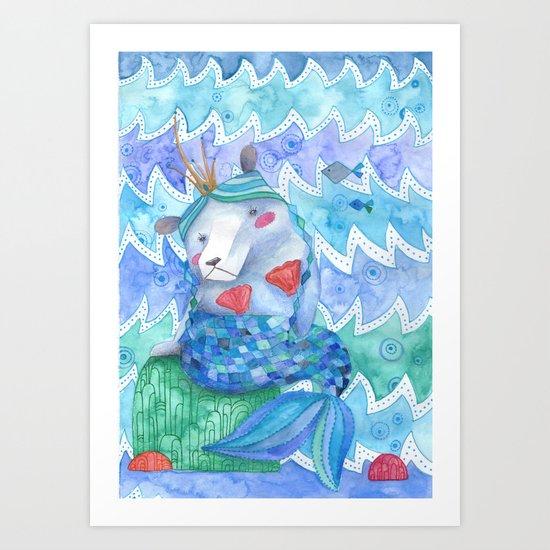 Bearmaid Art Print