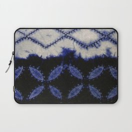 V42 Dark Blue Traditional Moroccan Texture Laptop Sleeve