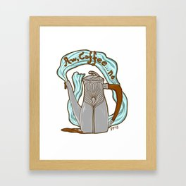 Coffee Nouveau Framed Art Print