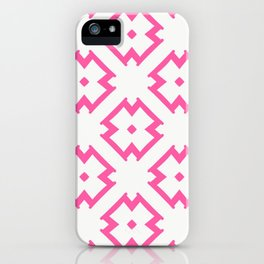 Abstract Pink Daisies iPhone Case