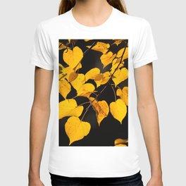 Autumn Foliage Yellow Leaves #decor #buyart #society6 T-shirt
