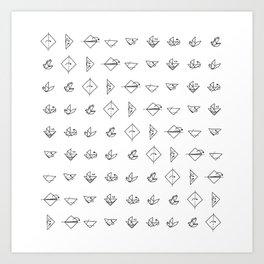 Origami Dove 01 Art Print