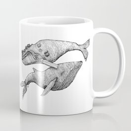 A Couple Of Whales  by Michelle Scott of dotsofpaint studios Coffee Mug