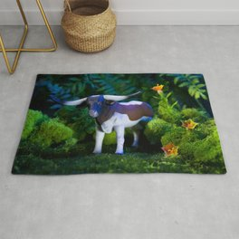 A Steer Cattle Cow at Night Rug