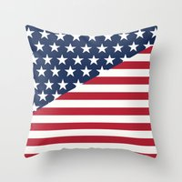 flag Throw Pillows featuring Flag by dani