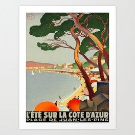 Vintage poster - Cote D'Azur, France Kunstdrucke