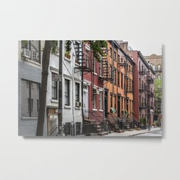 Picturesque street view in Greenwich Village, New York Metal Print