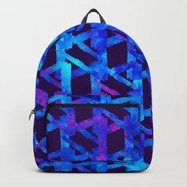 Cosmic blue watercolor bright print. Backpack