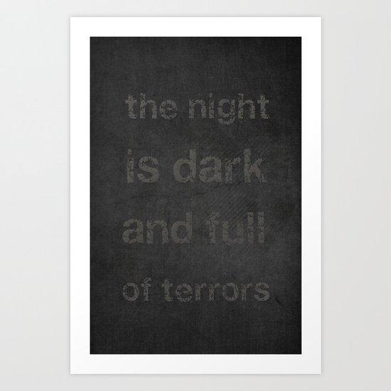 """Night Terrors"" Print Art Print"