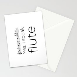 Do you speak flute? Stationery Cards