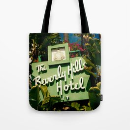 Classy Beverly Hills Hotel Mid Century Modern Neon Sign Tote Bag