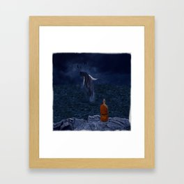 La preciosa mente de un monje - The beautiful mind of a monk Framed Art Print