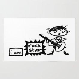 i am rock star. Rug