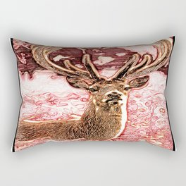 Stunning Deer 04-02 Rectangular Pillow