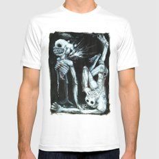 Shivers MEDIUM Mens Fitted Tee White