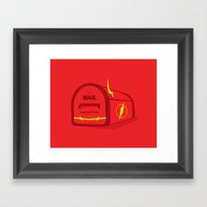 Faster than E-mail Framed Art Print