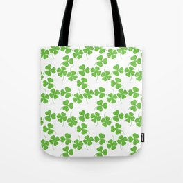 Lucky Shamrock Clover Leaves Tote Bag